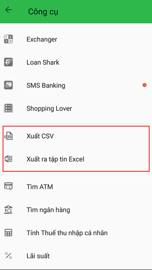xuất excel